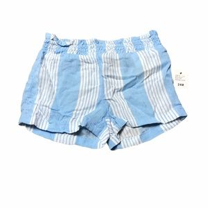 7 for all Mankind Blue & White Stripe Shorts
